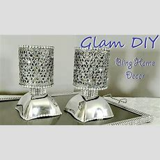 Dollar Tree Diy Glam Bling Faux Mirror Tealight Holders