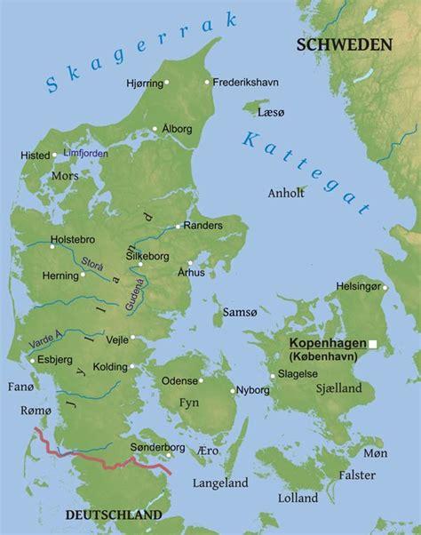Karte von Dänemark - Freeworldmaps.net
