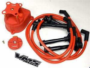 Distributor Cap   Rotor   Spark Plug Wire Kit For 92