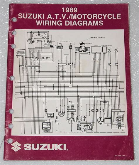 1989 suzuki motorcycle and atv electrical wiring diagrams manual 89 quot k quot ebay