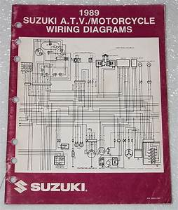 1989 Suzuki Motorcycle And Atv Electrical Wiring Diagrams Manual 89  U0026quot K U0026quot  Models