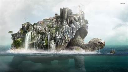 Turtle Fantasy Sea Town Desktop Monsters Google