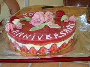 Deco Pate D Amande : fraisier d co p te d 39 amande supertoinette ~ Melissatoandfro.com Idées de Décoration