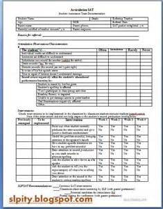 Speech Therapy Referral Form for Teacher