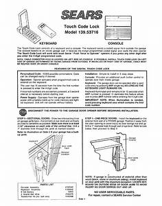 Sears Garage Door Opener Digital Control Manual