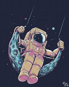 Where's Major Tom Now | illustration | Pinterest