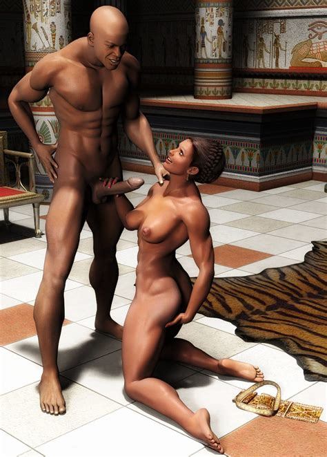 Hot Black Couple Fucking In Egyptian Temple 3d