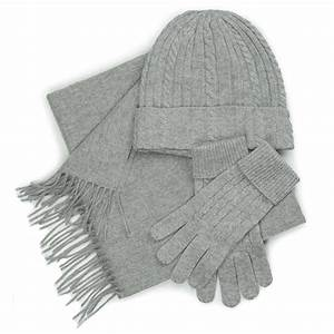 Cashmere Set Hat Gloves And Scarf Gift Box