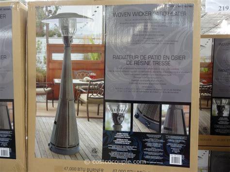 wicker patio heater costco woven wicker patio heater