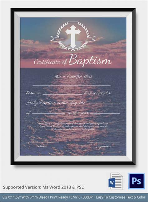 baptism certificates sample templates