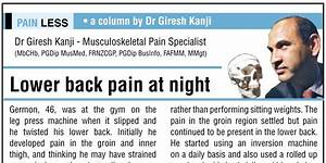 lower back pain at night the sports and pain clinic With back pain at night