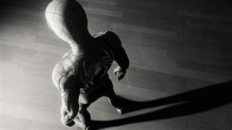 Spiderman Game Spider Logo 4k Monochrome Hd Games 4k