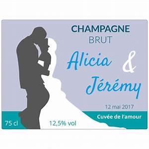 Etiquette Champagne Mariage : tiquette champagne personnalis e autocollant en ligne mariage ~ Teatrodelosmanantiales.com Idées de Décoration