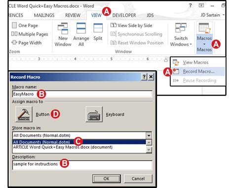 word macros  examples  automate  documents