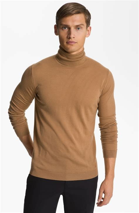 mens wool turtleneck sweater pringle of scotland beige merino wool turtleneck sweater