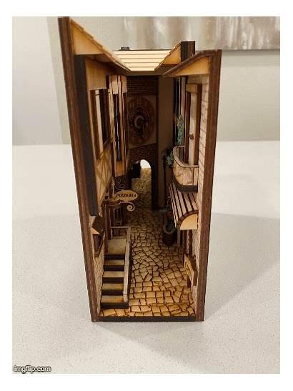 Bookshelf Nooks Miniature Insert Inserts Shelves Alley