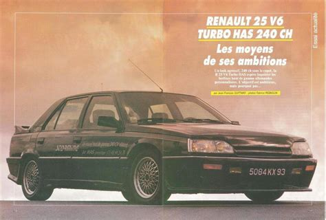 renault 25 v6 turbo renault 25 has prestige storming boitier rouge