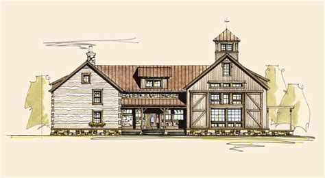 American Gothic   Log House Plans   Log Home Plans