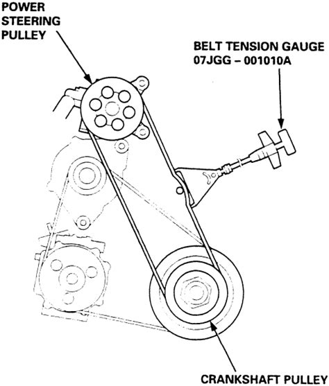 Serpentine Belt Diagram 95 Acura Integra by Repair Guides