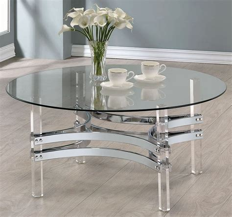 Chrome And Clear Acrylic Round Coffee Table, 720708. Contemporary Coffee Table. Freestanding Tub With Shower. Pax Closet. Sinks For Kitchen. Eclectic Art. 42 Inch Bathroom Vanities. Home Depot Light Fixtures. Concrete Walkways