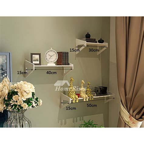 Decorative Wall Shelves For Living Room by White Wall Mounted Shelves Pvc Ledges Decorative Unique