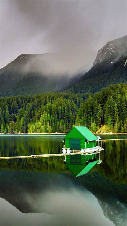 Nature Mobile Peaceful Wallpapers Phone Floating Cabin