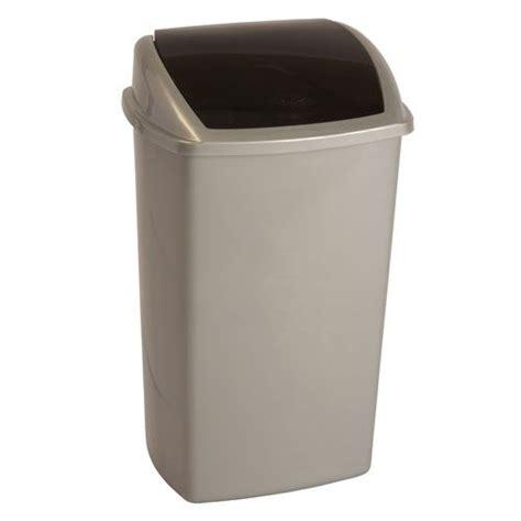 poubelle cuisine curver poubelle au couvercle rabattable 50 l achat vente