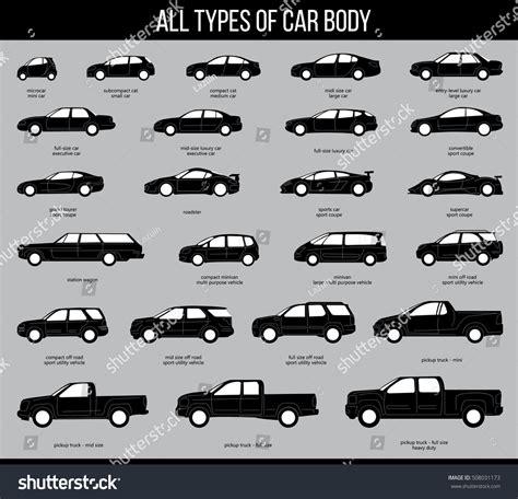 All Types Car Body Car Type Stock Vector 508031173