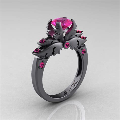 black engagement rings darkly angelic wedding rings quot black wedding rings quot
