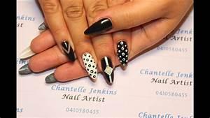 monochrome nails nail tutorial