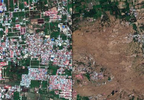 satellite images reveal extent  damage  indonesia