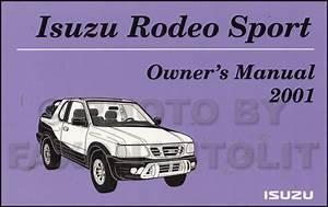 2001 Isuzu Rodeo  Rodeo Sport Repair Shop Manual 4 Volume Set