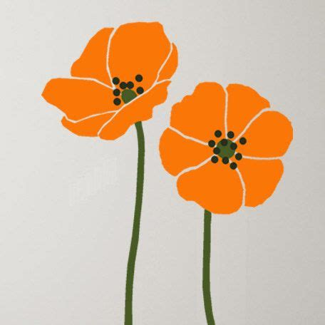 Free Printable Poppy Flower Stencil