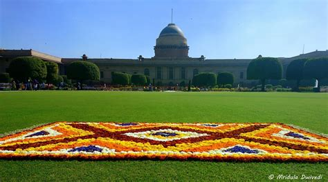 The Mughal Gardens At The Rashtrapati Bhawan, Delhi