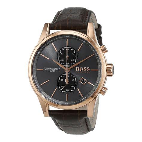 hugo boss  herrenuhr mit chronographen rosegold