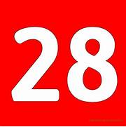Red Printable Number 2...