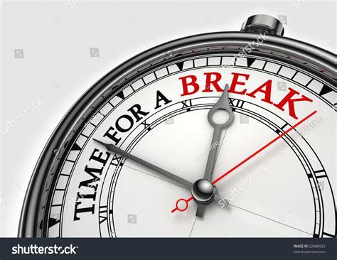Time Fora Break Concept Clock Closeup Stock Illustration