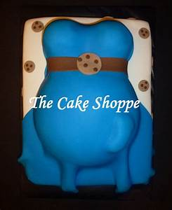 Cookie Monster baby shower cake | Cookie Monster ...