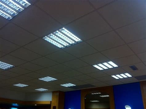 brand new suspended ceiling with 19 modular light fittings