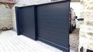 Portail Coulissant Automatique : portail coulissant t lescopique motorisation invisible ~ Premium-room.com Idées de Décoration