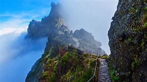 portugal, mountain, trail, in, madeira