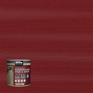 behr premium 8 oz st 112 barn red semi transparent With barn red deck paint