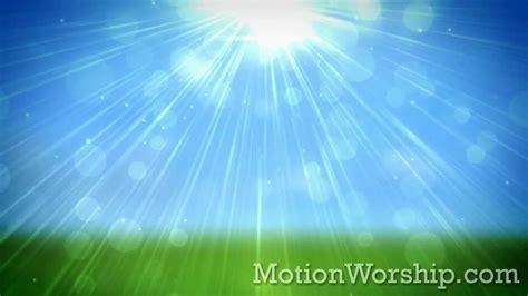 spring glow blue hd looping background  motion worship