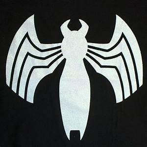 Black Venom Logo Women's T-Shirt | SuperheroDen.com