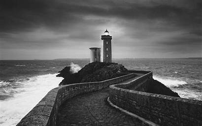 Lighthouse Windows Wallpapers Negro Blanco Faro Desktop