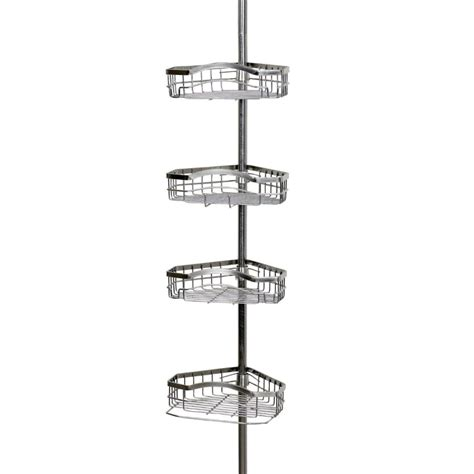 buy cheap corner shower caddy pole tension  shelves bath
