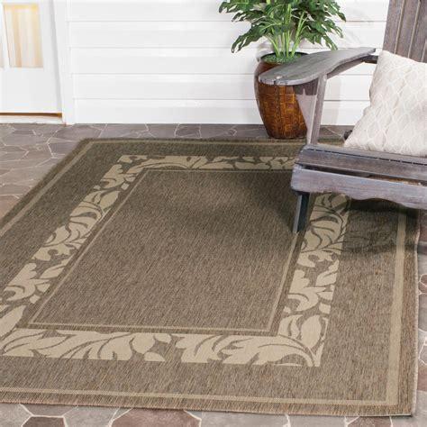 safavieh outdoor rugs safavieh courtyard brown 4 ft x 5 ft 7 in