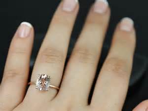 oval engagement ring thin band rosados box gold thin oval morganite classic plain engagement ring wishful thinking