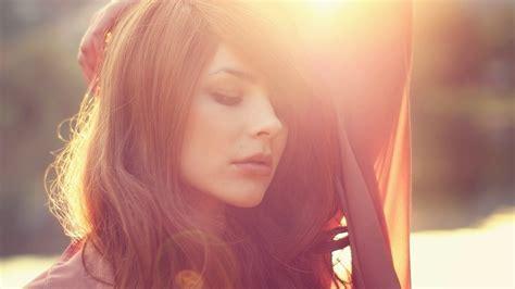 women brunette face sunset julia coldfront wallpapers