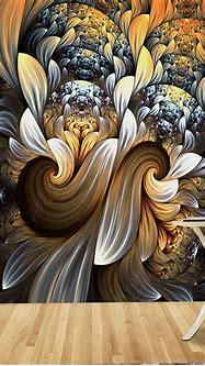 3D Abstract Flower Wall Murals HD Photo Wall Mural Paper ...